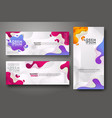 banner set design template in trendy vibrant vector image vector image