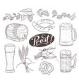 beer sketches isolated vector image