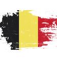 belgian scratched flag vector image vector image