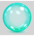 Big turquoise transparent glass sphere vector image vector image