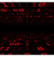 Binary background with red digits vector image