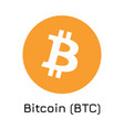 bitcoin btc crypto coin ic vector image