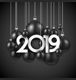 black festive 2019 new year card with christmas vector image vector image