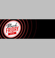 black friday sale banner in red neon style vector image vector image