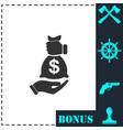 bribe icon icon flat vector image vector image