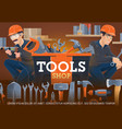 carpentry and locksmith work tools shop vector image vector image