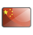 china flag on white background vector image vector image