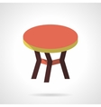 Color round table flat design icon vector image vector image