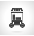 Cotton candy cart glyph style icon vector image