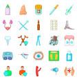 disease icons set cartoon style vector image vector image