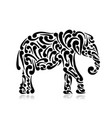 elephant ornate sketch for your design vector image