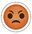 expression face emoji icon vector image