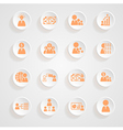 Finance icons button shadows set vector image vector image