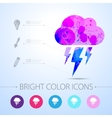 flash icon with infographic elements vector image vector image