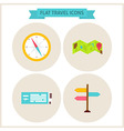 Flat Travel Website Icons Set vector image vector image