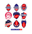 football club set logo template design vector image vector image