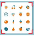 fruits icons - in a frame series vector image