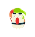 Funny Maki Sushi Character With Wasabi Drop On the vector image vector image