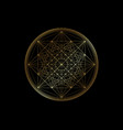 gold line drawing mandala sacred geometry logo vector image vector image