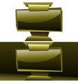 golden widescreen display panelboard origami vector image