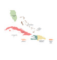 greater antilles political map vector image