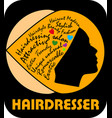 hairdresser signboard black silhouette of woman vector image