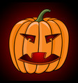 halloween pumpkin on dark background vector image vector image
