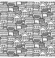 hand drawn pattern with city background vector image