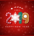 happy new year 2019 greeting card creative vector image