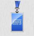 lanyard badge id card template blank identity vector image