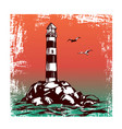 lighthouse and sea landscape hand drawn vector image