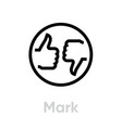 mark thumb up down icon editable line vector image vector image