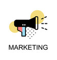 megaphone icon for marketing on white background vector image vector image