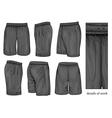 Mens black sport shorts vector image vector image