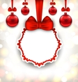 Merry Christmas Background with Celebration Card vector image vector image