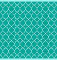 mint green geometric quatrefoil trellis pattern vector image vector image
