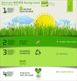 Modern nature design layout vector image vector image
