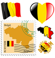 national colours of Belgium vector image vector image