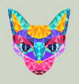 new neon retrowave vaporwave synthwave cat vector image vector image