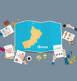 oman country growth nation team discuss with fold vector image vector image