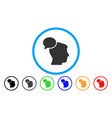 person idea rounded icon vector image