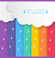 rain and rainbow sky background vector image