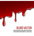 red paint dripping isolated on white background vector image