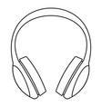 retro headphones icon outline style vector image vector image