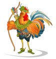 Rooster cock Robin Hood folk tale vector image