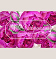 rose flowers watercolor wreath card vector image vector image