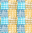 Rough brush blue and brown checkered squares vector image vector image