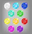 set colored diamonds for festive decor vector image vector image