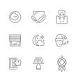 set line icons sleep vector image