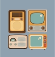 Set retro style vector image vector image